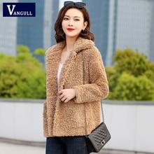 Vangull Lamb Velvet Jackets Winter Warm Plus velvet Thick Lo