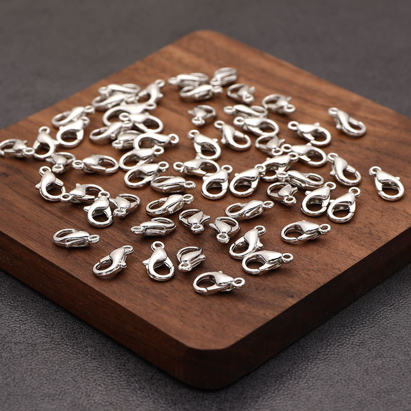 50pcs/lot Stainless Steel Lobster Clasp Hooks End Clasps Connectors for Necklace&Bracelet Chain DIY Fashion Jewelry Findings