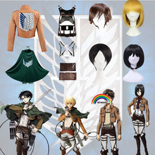 Jacket Shingeki Wigs Cosplay Costume Titan Recon Corps Attack On Eren No-Kyojin Levi
