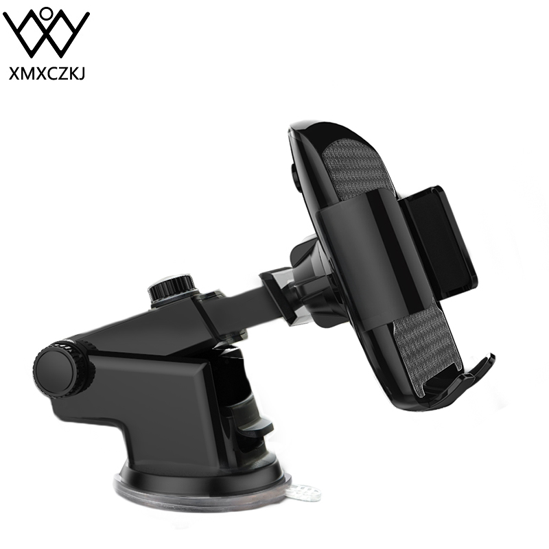 XMXCZKJ Car Phone Mount Dashboard Windshield Cell Phone Holder Cradle For Car With Sticky Suction & Easy One-Touch For IPhone Xs