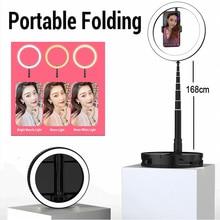 Pliant anneau lumière photographie LED Selfie lampe annulaire 3500 6000K Photo Studio lumière avec pince pour Youtube tik tok vidéo en direct