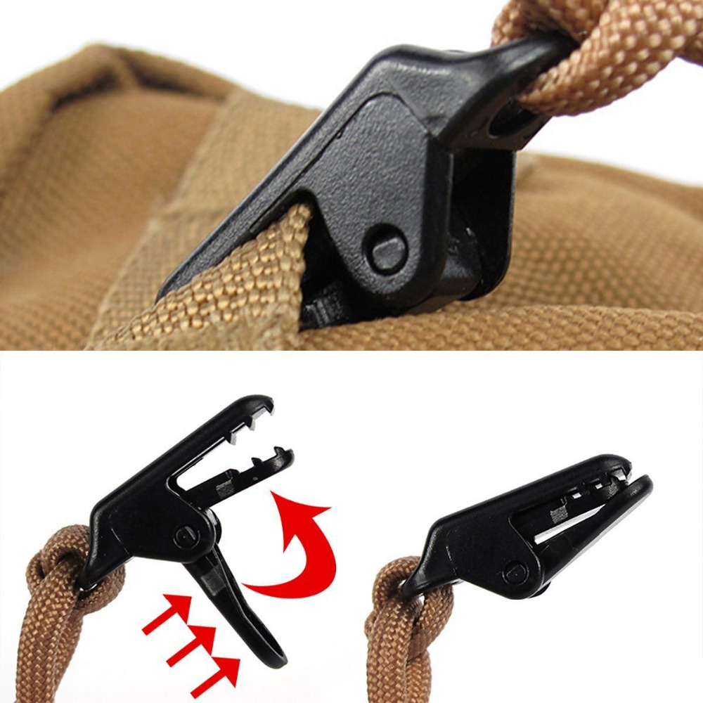8Pcs Tent Tarp Alligator Clips Awning Canopy Clamp Pull Point Clips Snap Canvas Anchor Gripper Outdoor Tent Accessories Kit