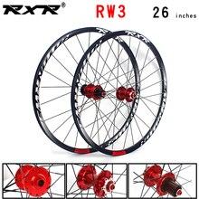 Колеса для горного велосипеда RXR, 26 дюймов, ступицы для горного велосипеда, 24 Отверстия, дисковый тормоз rw3, QR 7/11 скорость, передние, 2, задние, 5...