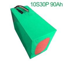 36V 90Ah 10S30P 18650 Li-ion Battery Pack E-Bike Ebike electrical bicycle 42V 300x195x140mm