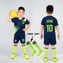 Boys Football Jersey tracksuit Child Soccer Sports Uniforms Kids Play Ball Sportswear Kits vest children's football suit Socks