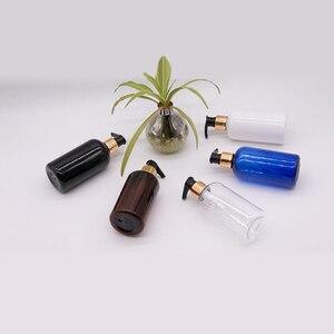 Image 5 - 20 قطعة 250 مللي أبيض أسود البلاستيك غسول زجاجات الصابون السائل الذهب مضخة الحاويات للعناية الشخصية غسول زجاجة سائل استحمام