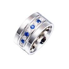 Оптовая продажа новинка титановая сталь кольца с украшением