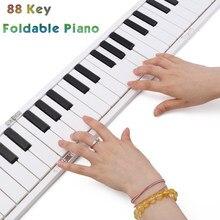 بيانو رقمي 88 مفتاحًا قابل للطي ، بيانو إلكتروني محمول مع لوحة مفاتيح ميدي دواسة