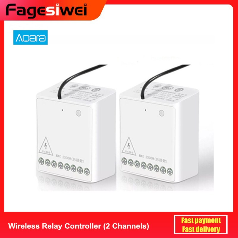 Aqara Relay Two-way Control Module Wireless Zigbee Relay Controller 2 channels Smart Light Control Switch Multiple Device