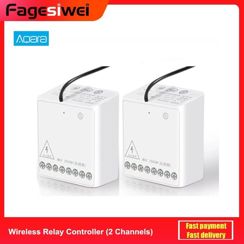 Aqara Relay Two-way Control Module Wireless Zigbee Relay Controller 2 Channels Smart Light Control Switch Multiple Device