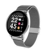 W8 montre intelligente étanche hommes femmes pression artérielle fréquence cardiaque activité Tracker podomètre Sport Fitness Smartwatch sur Android IOS
