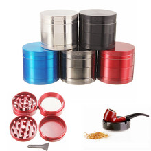 Tobacco Grinder Smoking-Pipe Aluminum Container-Accessorie Herbal-Herb New 4-Layer Sale