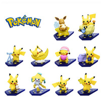 Takara Tomy Pokemon Good Night Pikachu 10pcs/lot Action Figure Toys Model Decoration Christmas Birthday Gifts for Kids