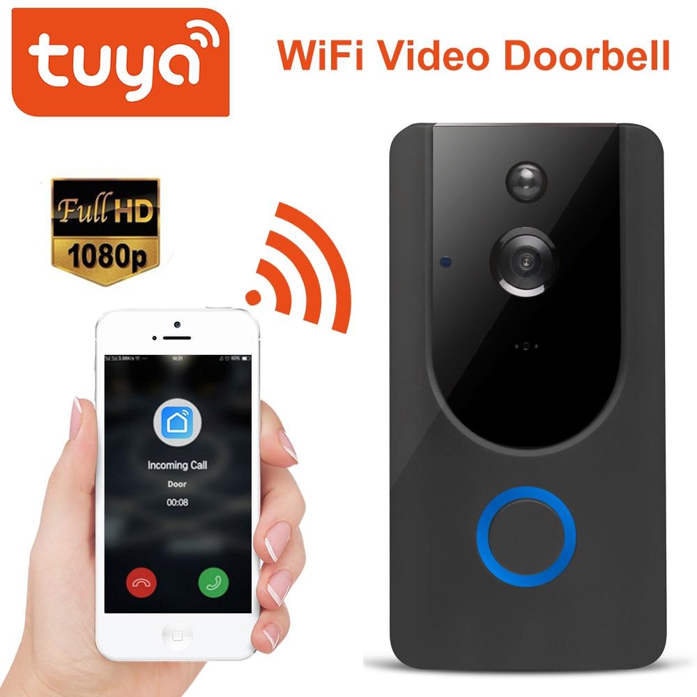 Tuya 1080P Video Doorbell  Smart WiFi Video Intercom SmartLife APP Remote Control Wireless DoorBell Camera Home Security Monitor