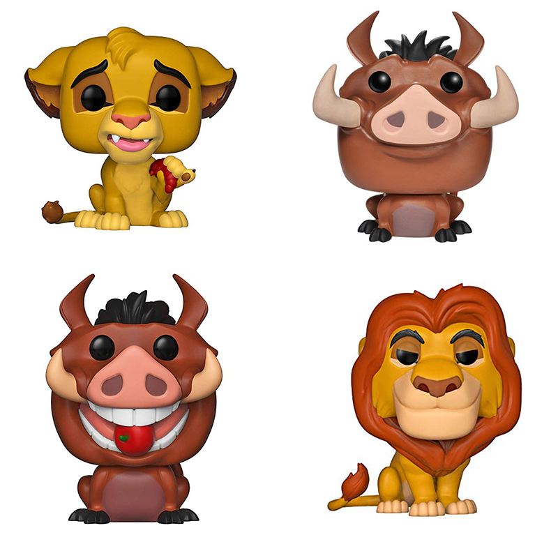 Funko Pop The Lion King Simba Nala Luau Pumbaa Luau Timon Cartoon Anime Figure Vinyl Action Figures Collection Model 2F38