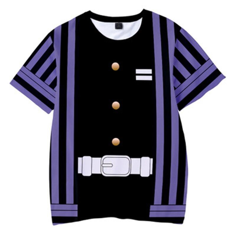 Hbe5b118f52594397a5a793407937bea6E Kids Boys Devils killer T-shirts 3d Print Cosplay Japanese Ghost blade Children Summer Short Sleeve Tshirts Demon Slayer Clothes