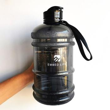 Embed Life 2.0L Large Capacity Fitness Camping Sport Water Bottle Free Bpa Flip Cover Drinking Port 70oz Gym Handgrip kettle image