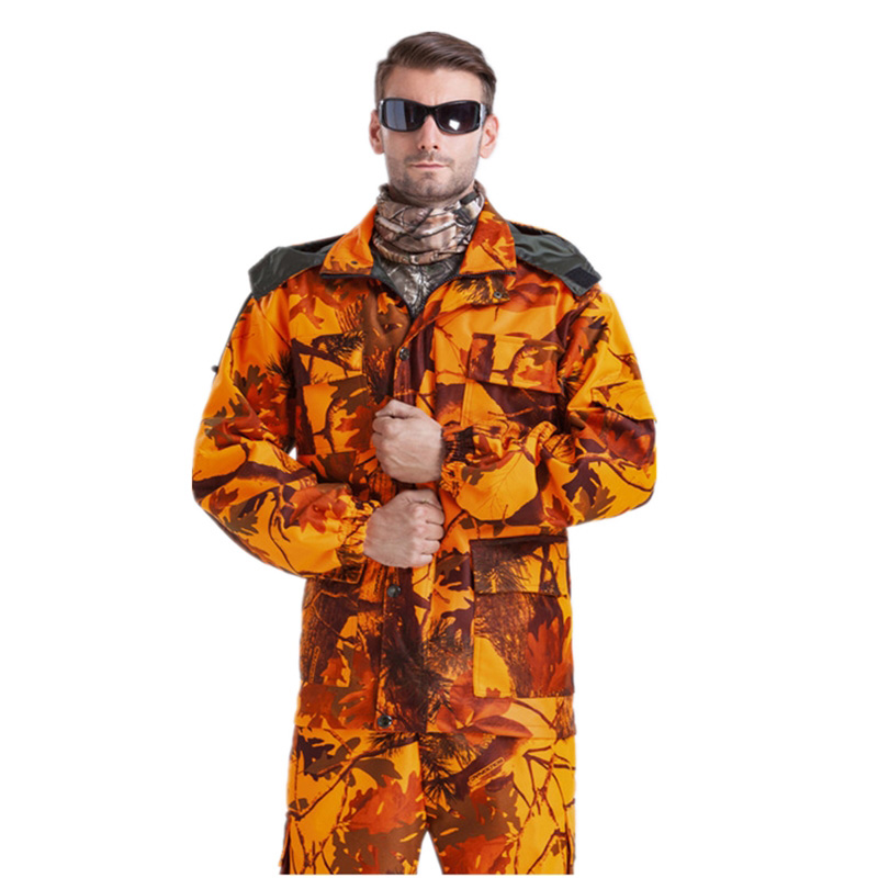 Wholesale Uniform Bionic Camouflage Tactical Suit Orange Plus Size Sniper Suit Hunting Waterproof Clothing L~4XL CF1