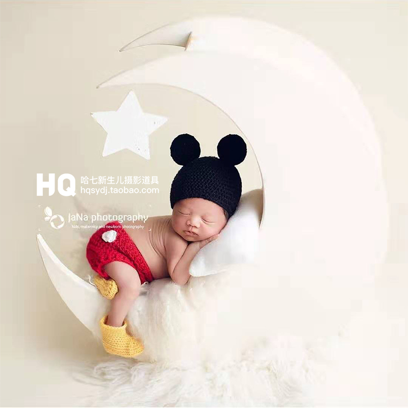 2020 Knitted Soft Newborn Photography Clothes Baby Photoshoot Handmade Outfit Infant Photo Romper Studio  Accessories