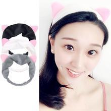 1 Pcs Hair Band Korean Version Of Cat Ears Ladies Cute Sports Makeup Face Accessories