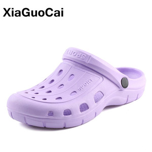 2019 Summer Women Clogs Breathable Casual Home Slippers Female Garden Shoes Cheap Beach Sandals Mules Antiskid Bathroom Slipper(China)