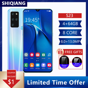 Global Version SOYES S23 4G LTE Android 9.1 Mobile Phone 6.3 Inch 3/4G+64G Smartphone Face ID Unlock 13MP 4800mAh Cell Phones