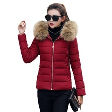 Winter Jacket Women 2016 new winter fur collar down jacket women short paragraph Slim thickening womens cotton S-XXXL
