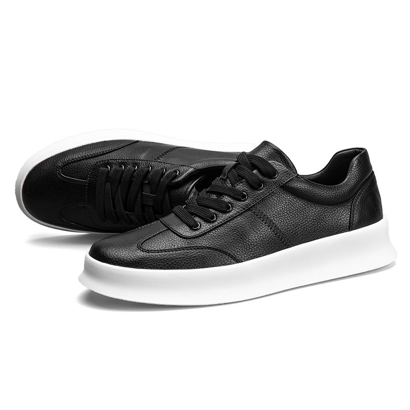 British Mens Leather Sneakers Casual High Quality Lace Up Athletics Board Shoes