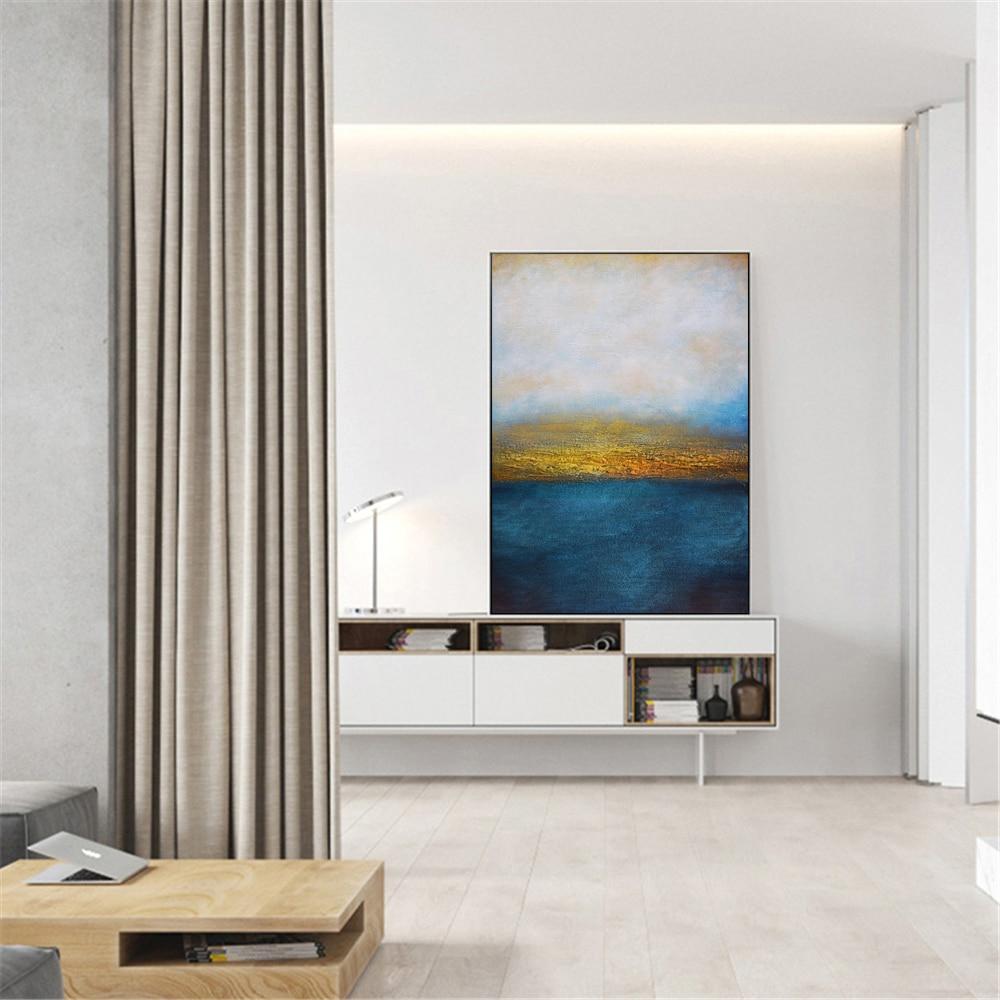 escritório pintura a óleo para sala de estar decoração casa