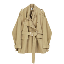 2020 Women's Trench Coat Spring New Fashion Loose Outwear Bandage Single-breaste