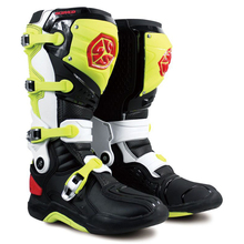 Motorcycle Boots Off-road Motocross Racing Men shoes Long Knee High SCOYCO MBM002 atv size 12 46 black yellow color