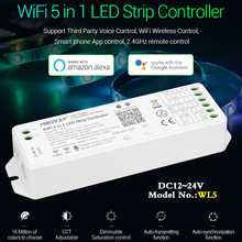 WL5 (YL5 upgrade version)WiFi 5 IN 1 led light with controller DC12~24V dimmer for single color,CCT,RGB,RGBW,RGB+CCT led strip