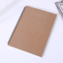 Hard kraft paper cover 50 pages environmentally friendly wood pulp sketch paper spiral binding booked loose-leaf sketchbook