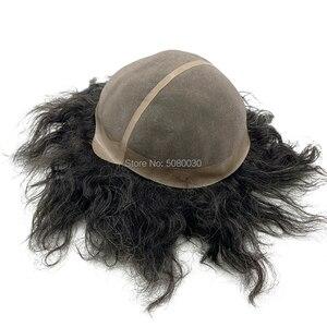 Image 3 - Parrucca di capelli maschile su misura big cap toupee dei capelli umani mono merletto di base delle donne parrucca