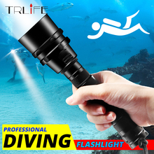 TRLIFE LED Diving Flashlight Torch L2/T6 Dive Torch 200M Underwater Tactical LED Flashlights Scuba Lantern Use 18650 Battery xml t6 l2 powerful battery flashlight diving professional portable dive torch underwater illumination waterproof flashlights