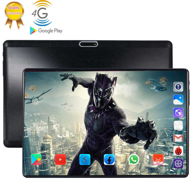 4G LTE 128GB mundial Bluetooth Wifi Android 9,0 tableta de 10,1 pulgadas Octa Core 6GB RAM 128G ROM tarjeta SIM Dual 2.5D de tablet Pc