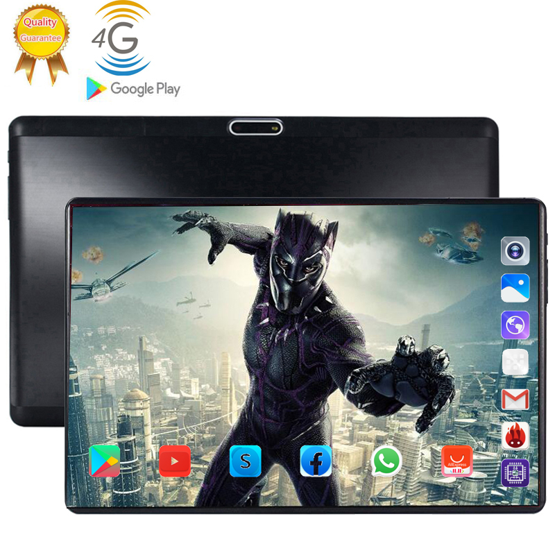 4G LTE 128GB mundial Bluetooth Wifi Android 9,0 tableta de 10,1 pulgadas Octa Core 6GB RAM 128G ROM tarjeta SIM Dual 2.5D de tablet Pc title=