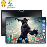 4g lte 128 gb global bluetooth wifi android 9.0 10.1 polegada tablet octa núcleo 6 gb ram 128g rom duplo sim cartão 2.5d vidro tablet pc