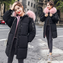 Winter Women jackets Fashion thick warm big fur collar hooded jacket coat parkas outwear plus size sintepon parkas