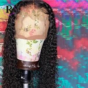 Image 4 - Rulinda peruca cabelo humano frontal, peruca com renda brasileira sem cabelo humano com cabelo bebê 13*4 cabelo remy pré selecionado 130% densidade