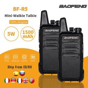 2pcs/lot Baofeng BF-R5 Mini Handheld Walkie-talkie UHF Portable Two Way Radio USB Charge FM Transceiver CB Radio Station