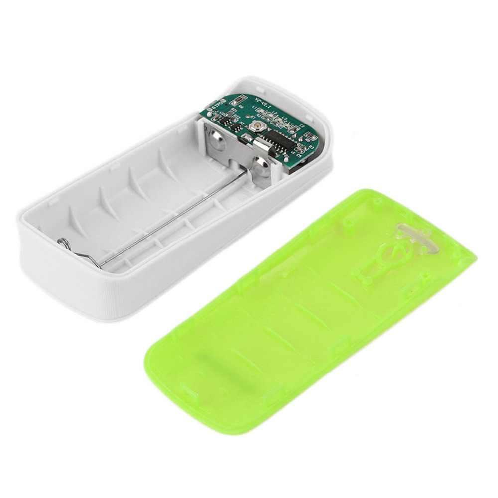 التصميم الإبداعي 5600mAh USB شحن المحمولة شاحن بطارية احتياطية خارجية 2*18650 علبة صندوق شحن البطارية