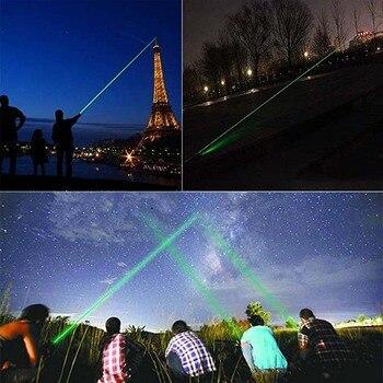 High Power Groene Laser Pointer Militaire Burning Krachtige Laser Sight 5000 M 532nm Lazer Pen Focusable Burn Match