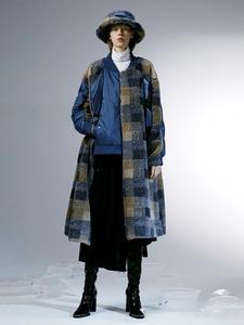 Image 2 - IRINACH112 2020 Winter New Collection oversize plaid berber fleece wool coat