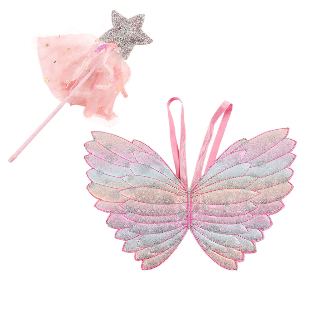 Ins Hot Sale 2020 Cute Children's Performance Costume Props Gradient Color Butterfly Princess Angel Wings Kid Gifts New