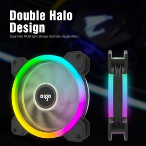 DarkFlash Aigo DR12 RGB Fan 120mm LED Einstellen Geschwindigkeit Ruhig Computer Fall Lüfter CPU Kühler IR Fernbedienung am3 am4