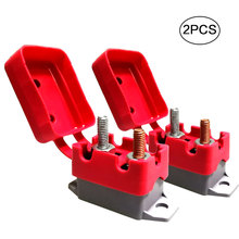 2Pcs DC 12V - 24V Automatic Reset Circuit Breaker Fuse Stud Bolt Type 1 with Cover Stud Bolt for