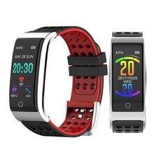 "E08 חכם צמיד אק""ג PPG לחץ דם מדידה כושר גשש שעון צמיד Waterproof קצב לב צג"