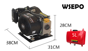 Image 4 - WSE7000A 7KW 48/60/72V AutoStart/Stop Autochoke/throttle Gas DC Battery Charging Inveter Generator Applied for E Bike/E Tricycle