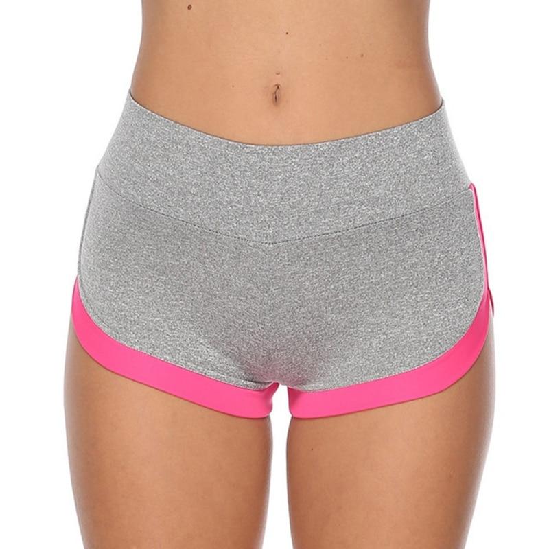 Fashion New Ass Pocket Stitching Fitness Shorts Summer Fitness High Waist Shorts Beauty Lady Sexy Sport Shorts
